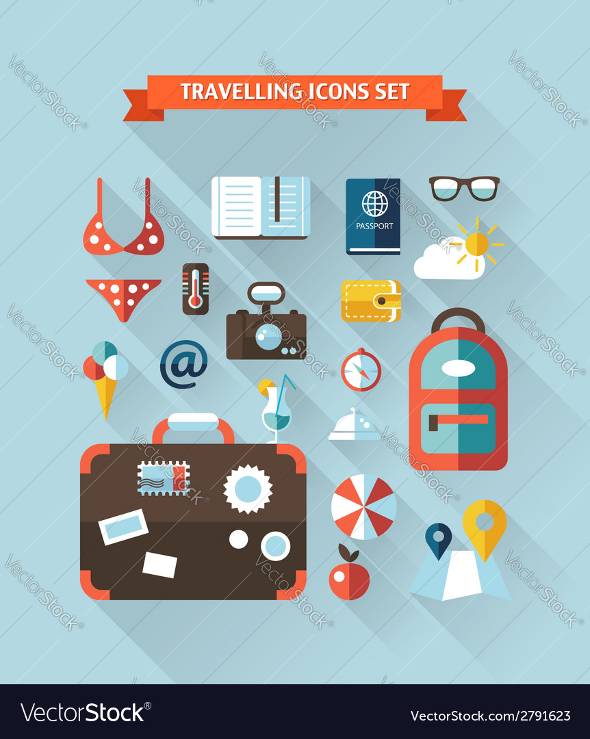 Travel flat design composition vector | Price: 1 Credit (USD $1)