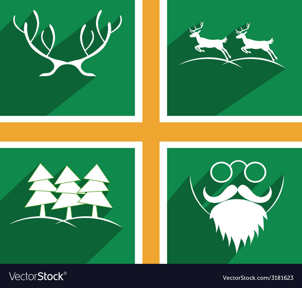 Vset of elements for christmas and new year vector   Price: 1 Credit (USD $1)