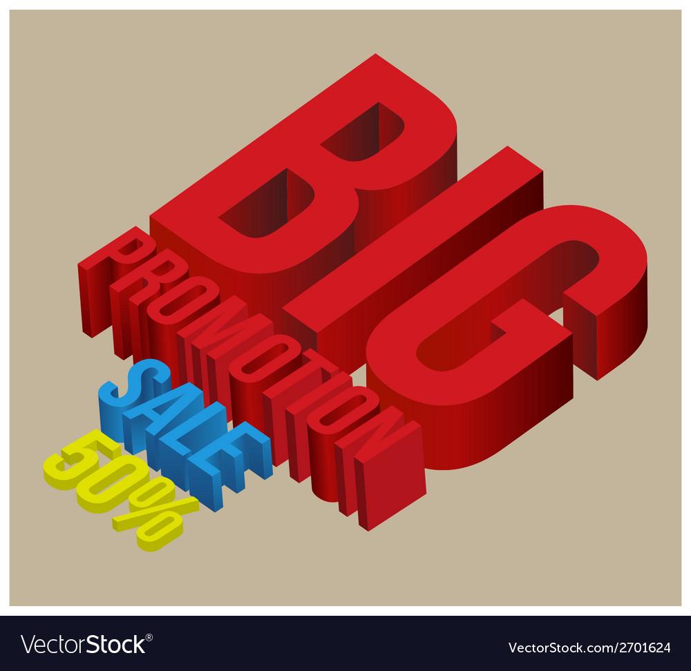 3d big promotion sale vector | Price: 1 Credit (USD $1)