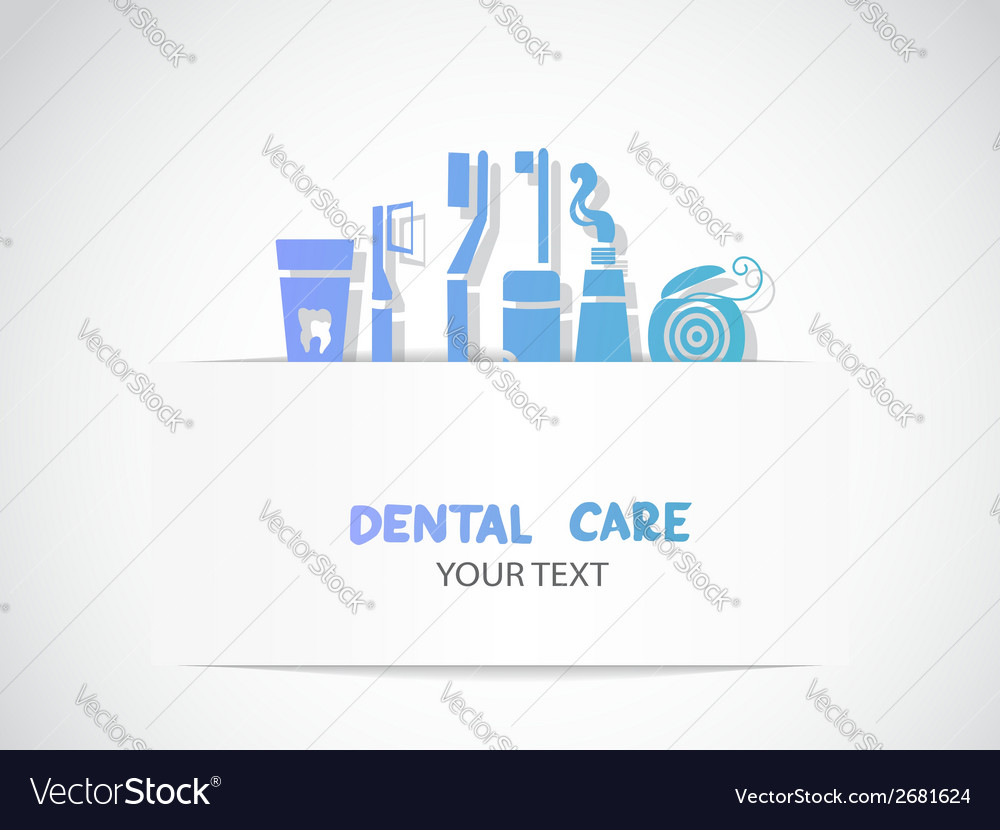 Background with dental care symbols vector | Price: 1 Credit (USD $1)