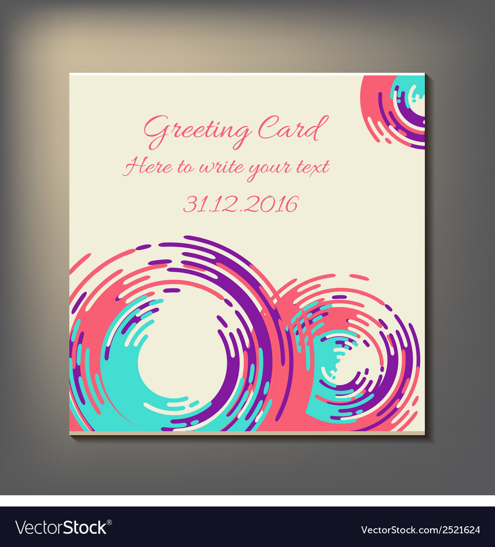 Beautiful abstract invitation card vector | Price: 1 Credit (USD $1)