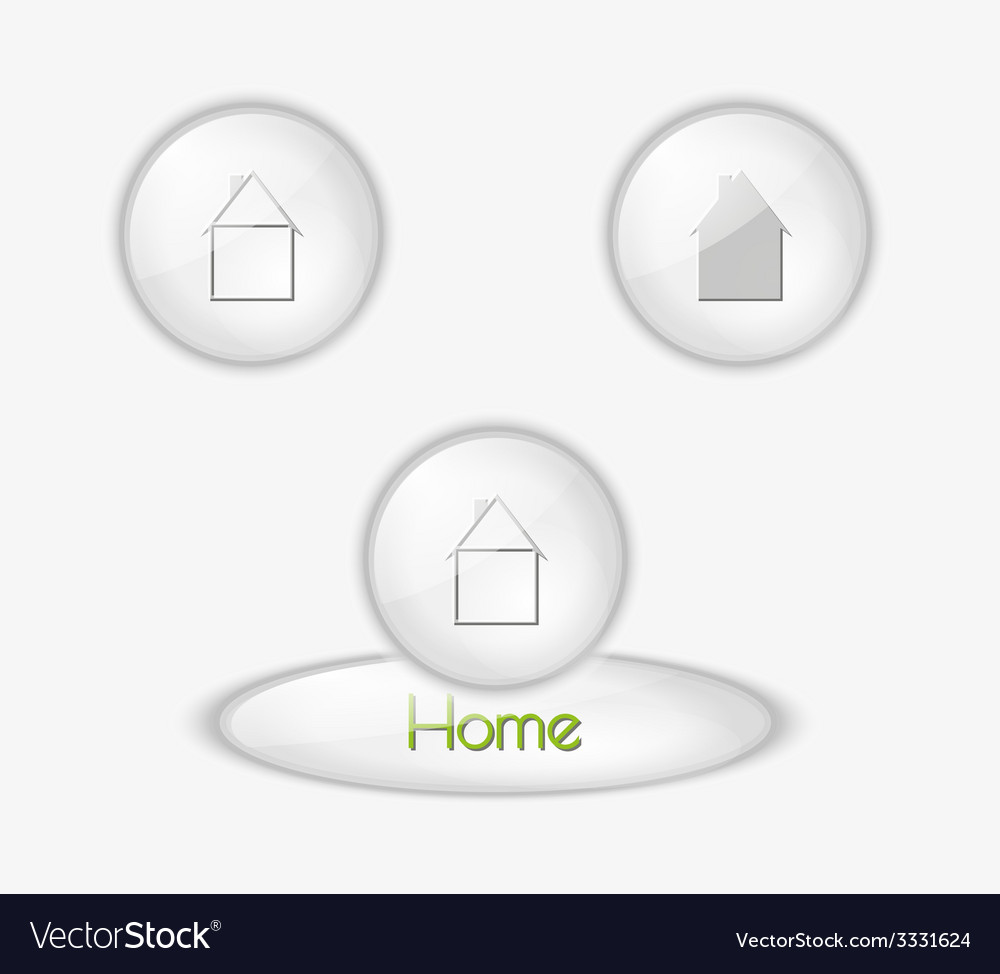 Buttons with houses vector | Price: 1 Credit (USD $1)