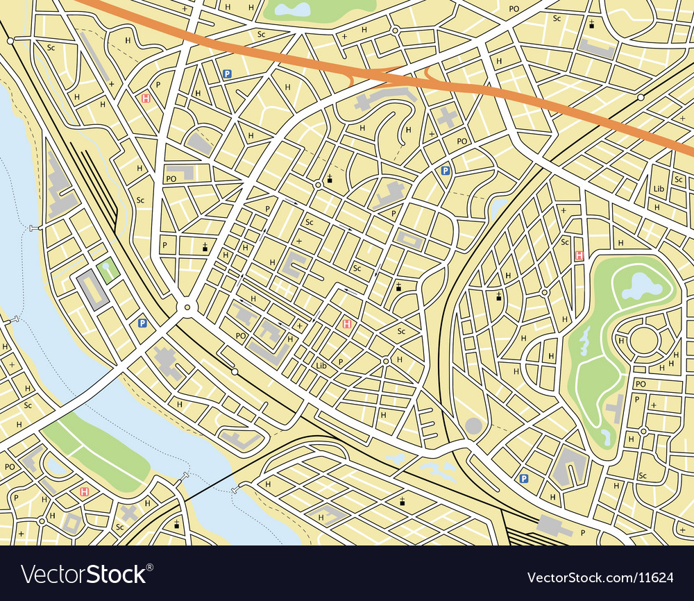 City map vector | Price: 3 Credit (USD $3)