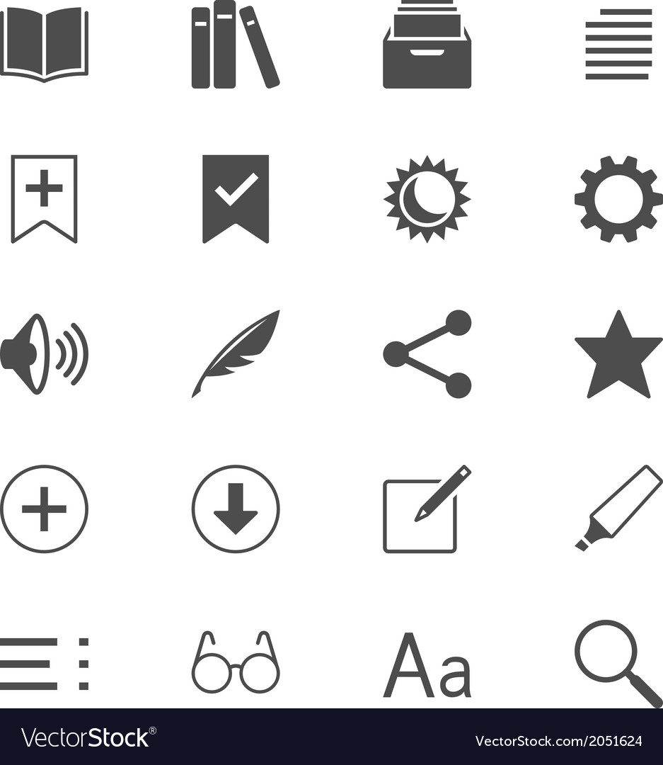 E-book reader flat icons vector | Price: 1 Credit (USD $1)