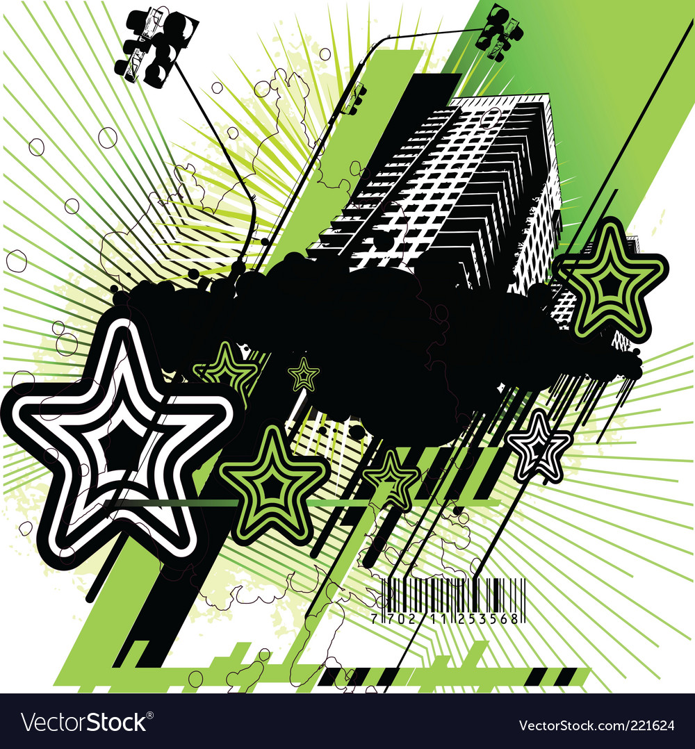 Green and black urban design vector | Price: 1 Credit (USD $1)