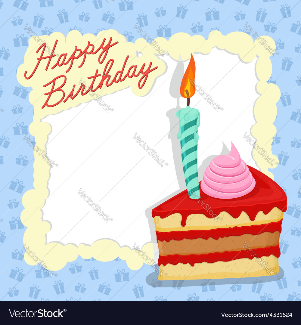 Happy birthday card place for text vector