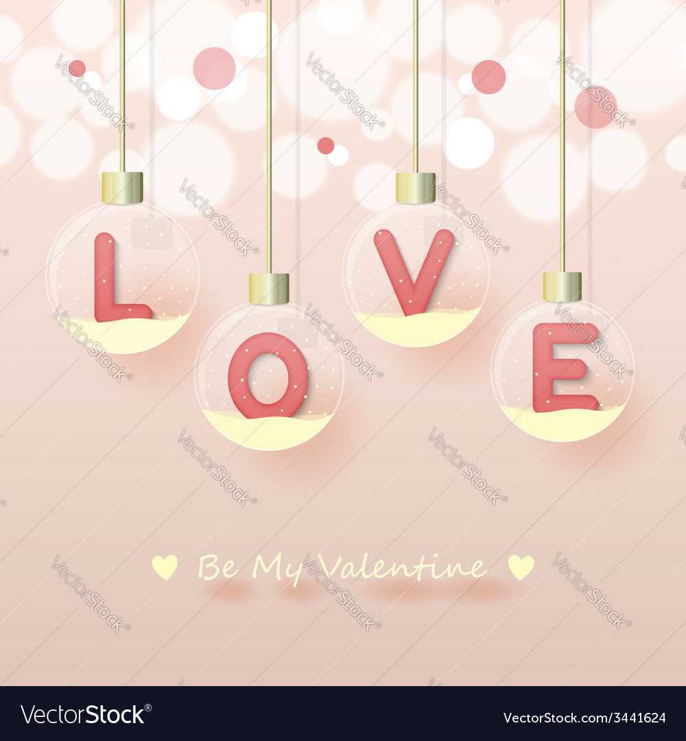 Love valentines day background vector | Price: 1 Credit (USD $1)