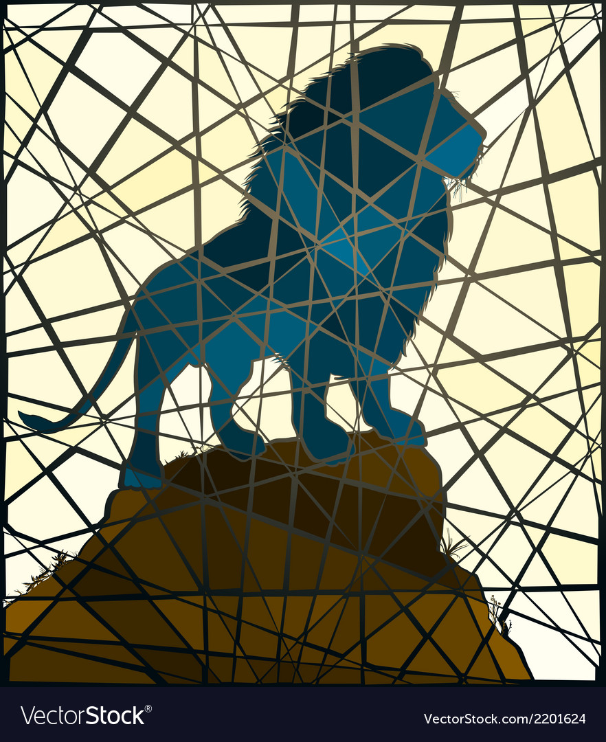 Mosaic lion vector | Price: 1 Credit (USD $1)