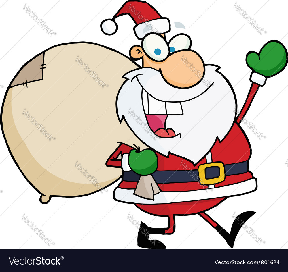 Santa waving vector | Price: 1 Credit (USD $1)