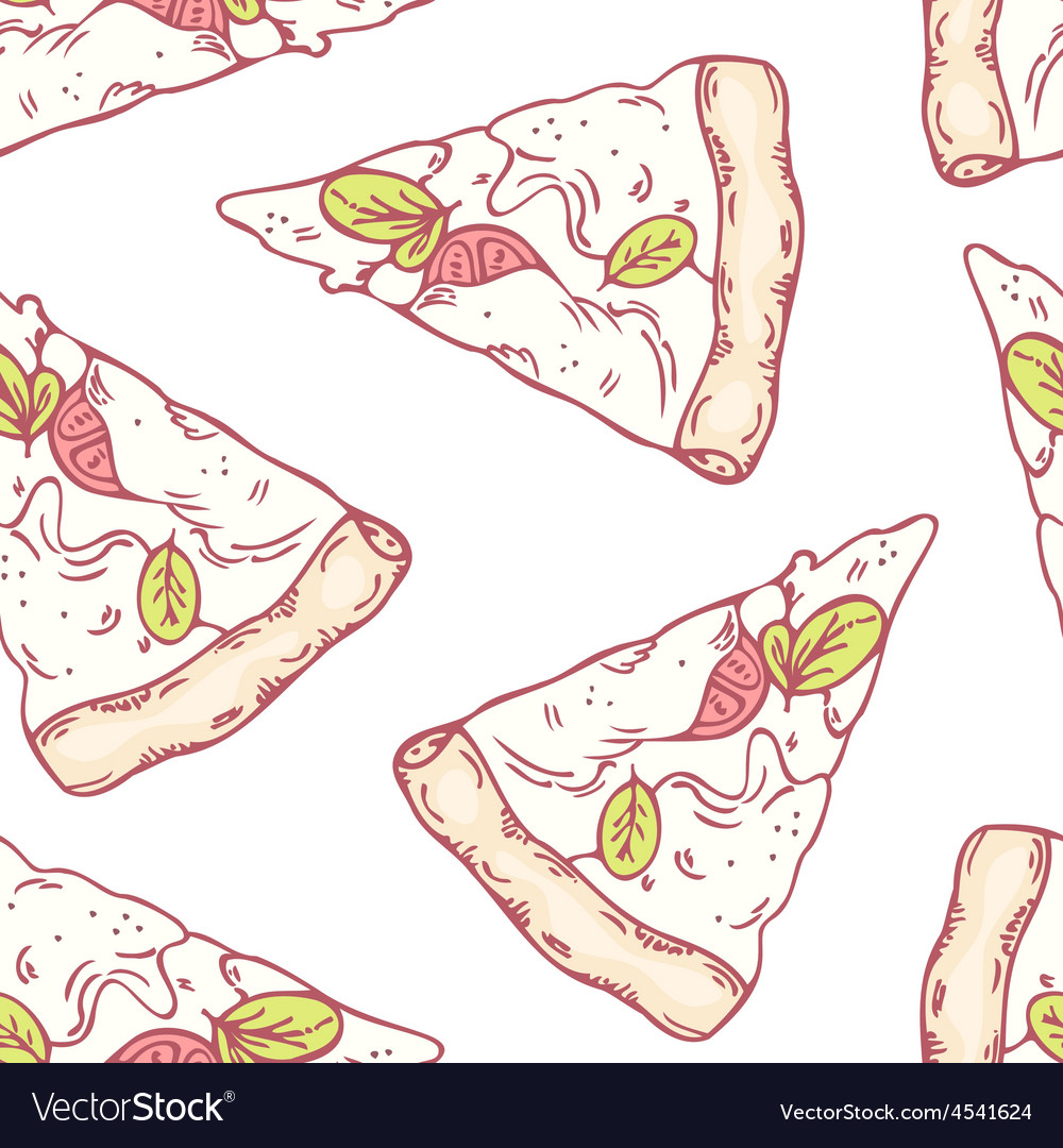 Slices of mozzarella seamless pattern vector | Price: 1 Credit (USD $1)