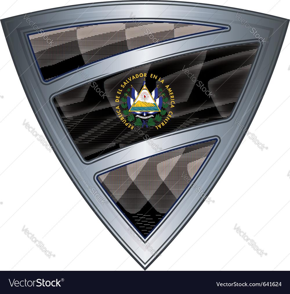 Steel shield with flag el salvador vector | Price: 1 Credit (USD $1)
