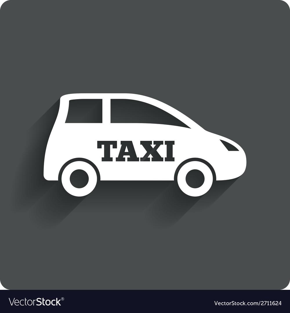Taxi car sign icon hatchback symbol vector | Price: 1 Credit (USD $1)