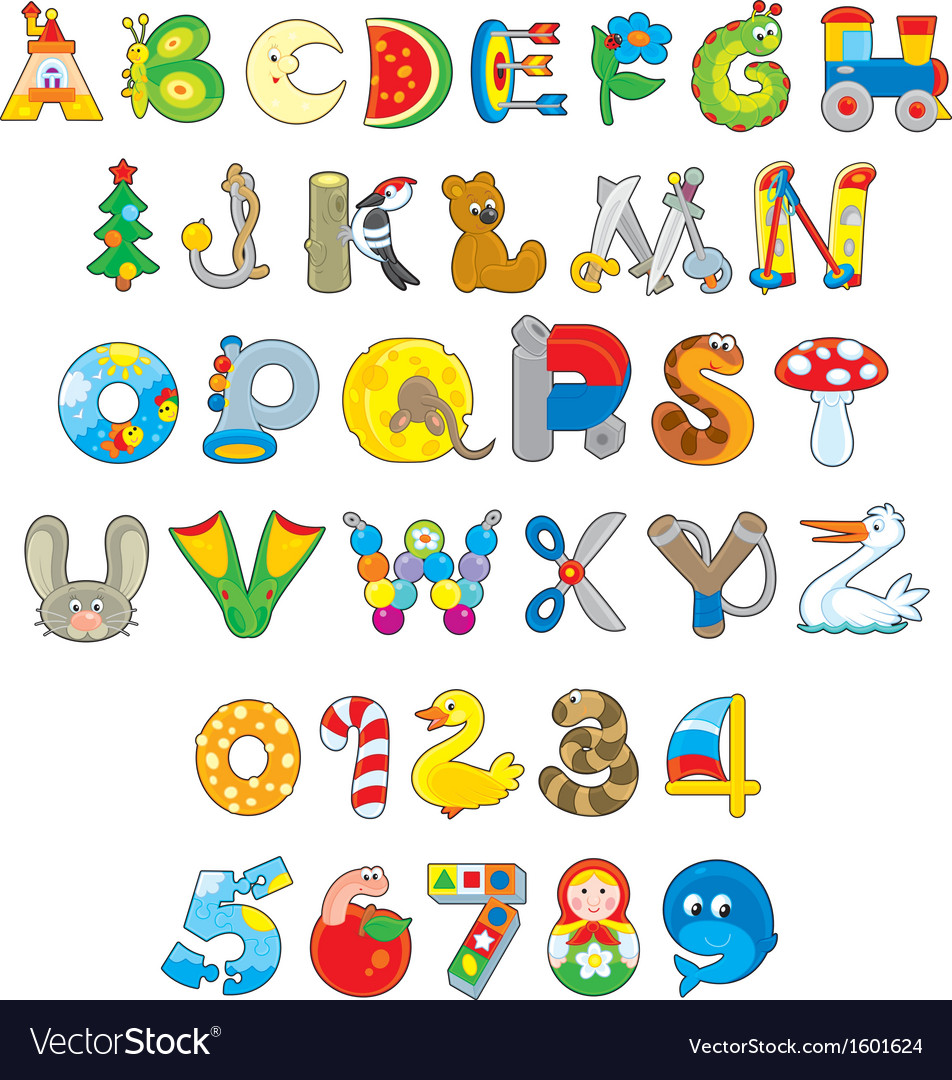 Toy font vector | Price: 1 Credit (USD $1)