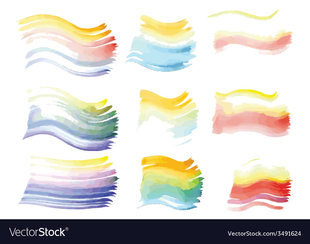 Watercolor brush strokes on paper vector | Price: 1 Credit (USD $1)