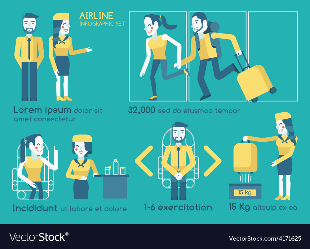 Airline infographics vector | Price: 1 Credit (USD $1)