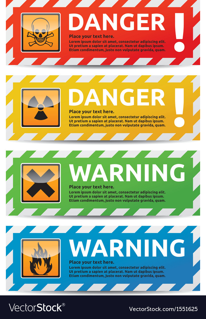 Danger banner vector | Price: 1 Credit (USD $1)
