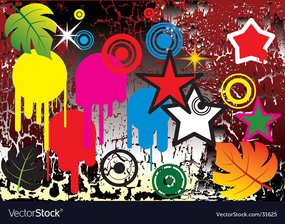 Design elements on grunge background vector   Price: 1 Credit (USD $1)