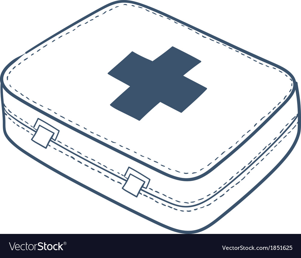First aid kit isolated on white vector | Price: 1 Credit (USD $1)