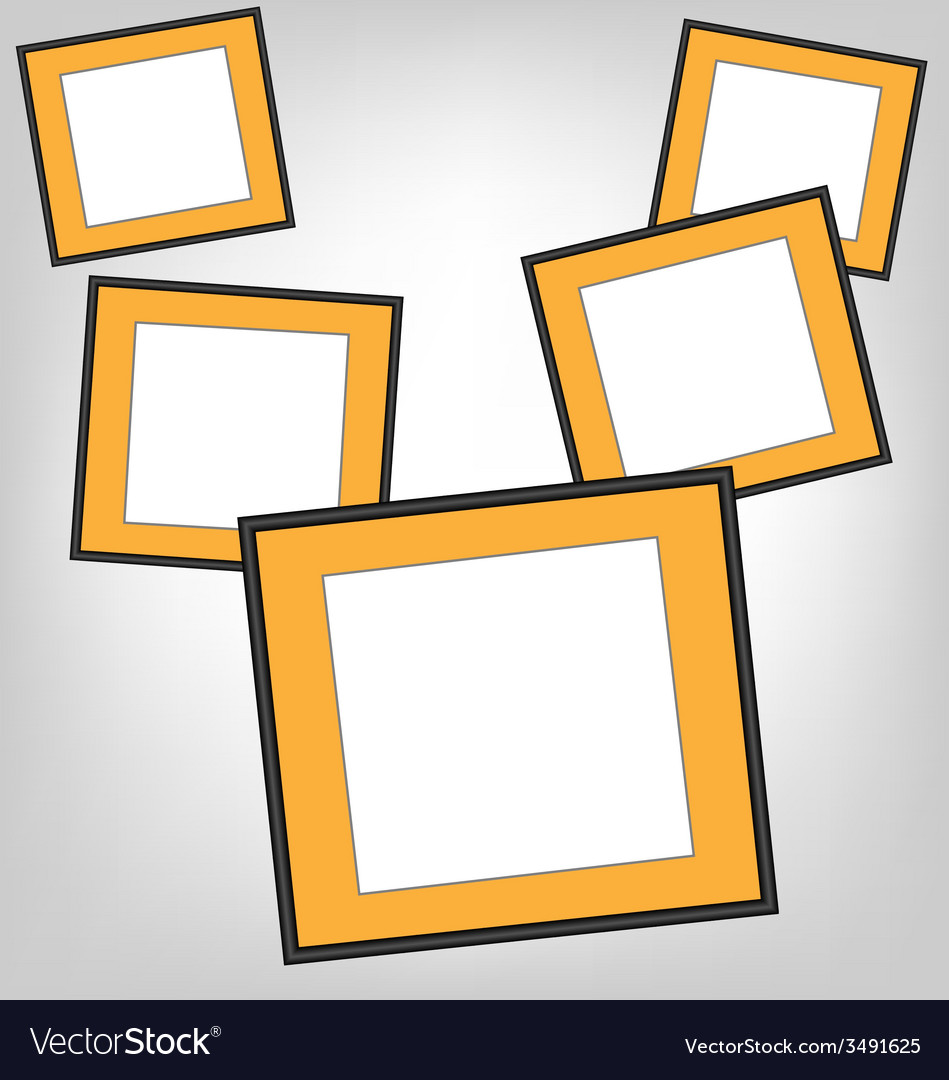 Orange frames on grayscale vector | Price: 1 Credit (USD $1)