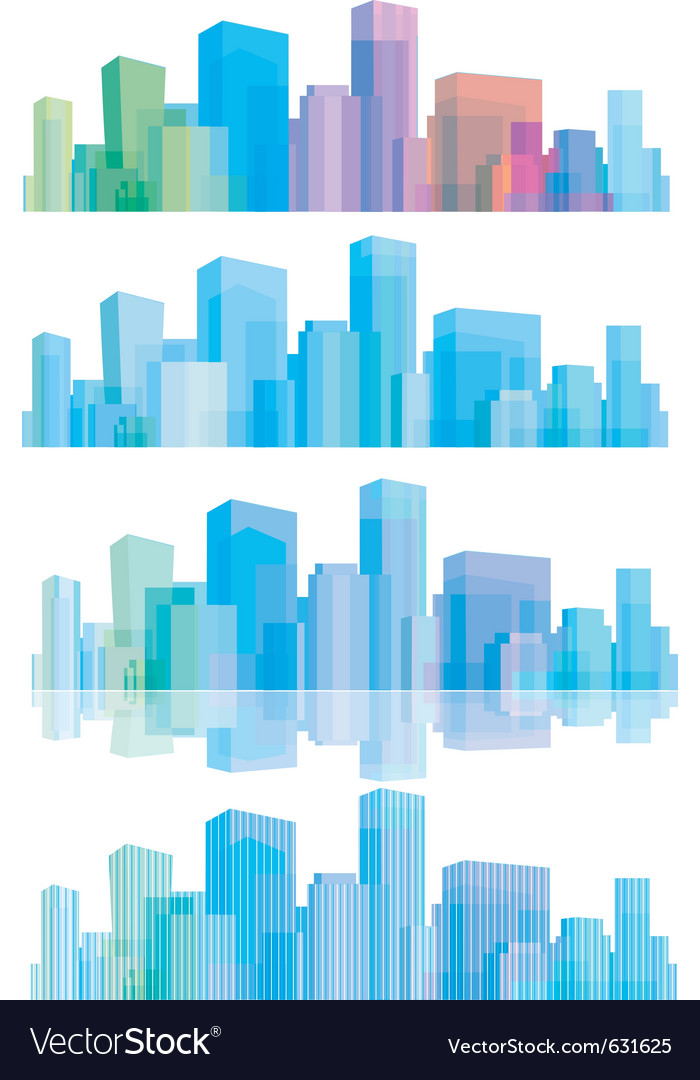 Panorama of cities vector | Price: 1 Credit (USD $1)