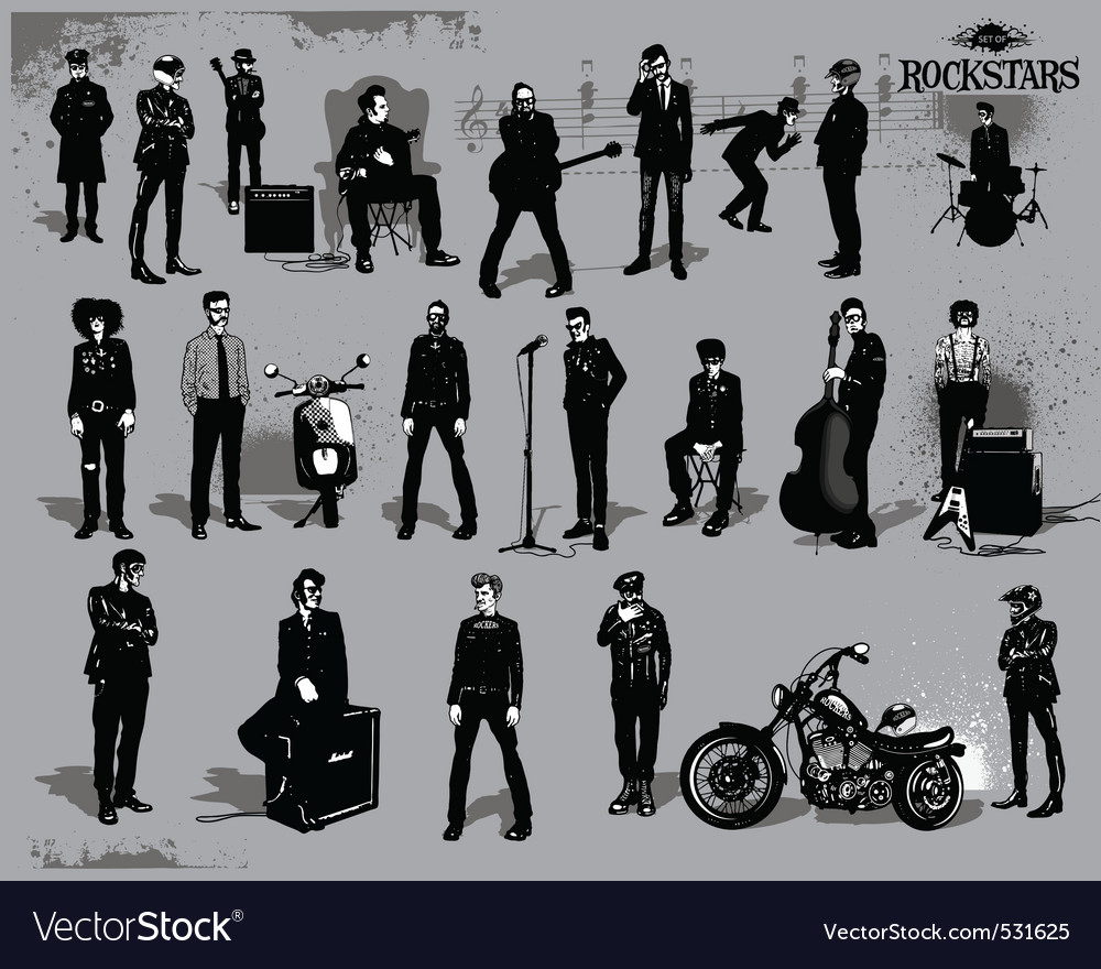 Rock stars vector | Price: 3 Credit (USD $3)