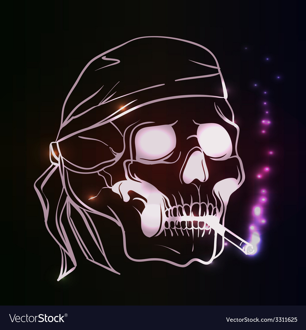 Smoking skull vector   Price: 1 Credit (USD $1)