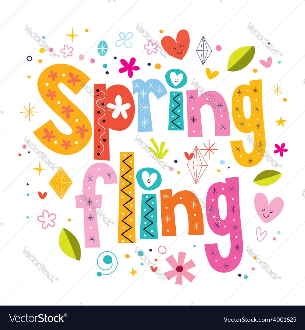 Spring fling vector | Price: 1 Credit (USD $1)