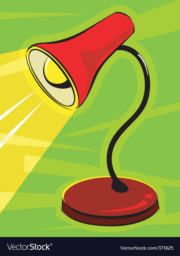 Table lamp vector | Price: 1 Credit (USD $1)