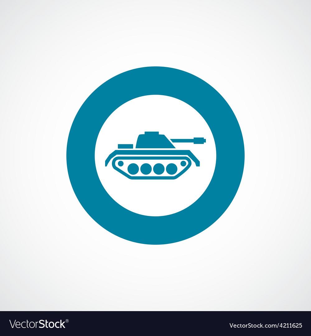 Tank icon bold blue circle border vector | Price: 1 Credit (USD $1)