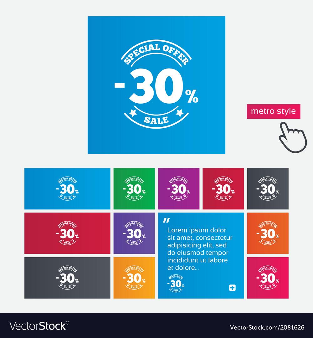 30 percent discount sign icon sale symbol vector   Price: 1 Credit (USD $1)