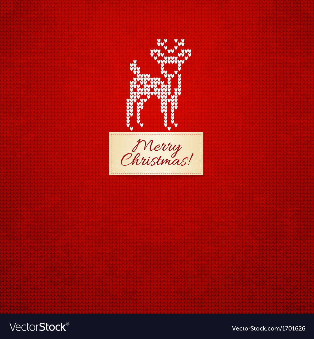 Christmas and winter knitted card vector | Price: 1 Credit (USD $1)
