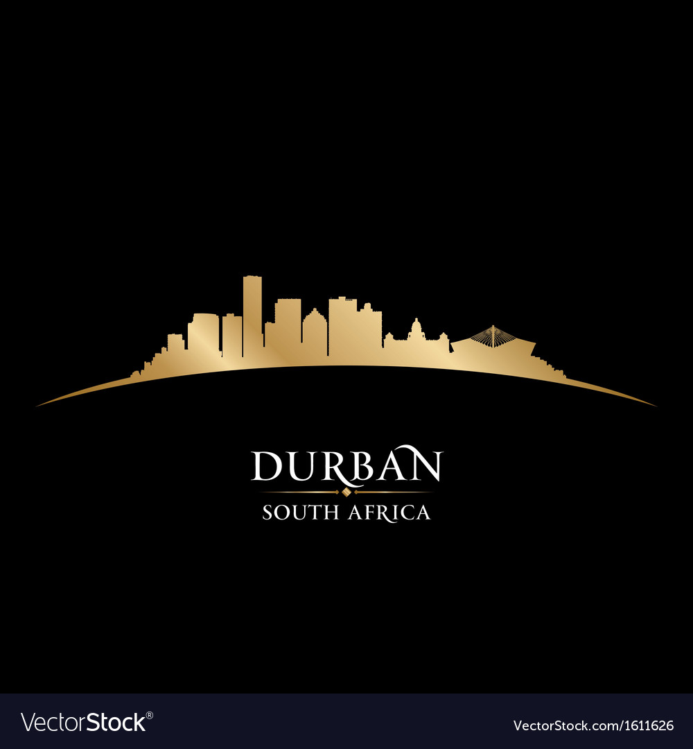 Durban south africa city skyline silhouette vector | Price: 1 Credit (USD $1)