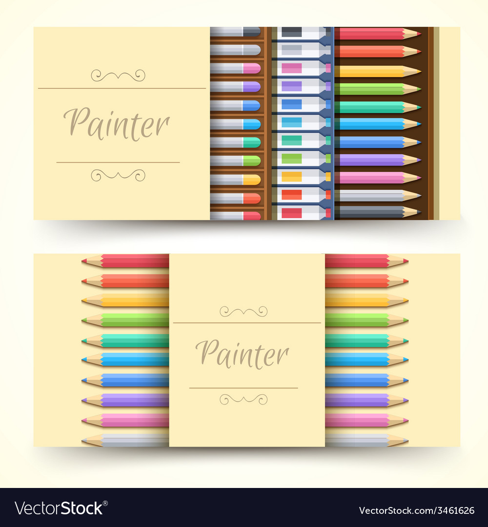 Flat art painter workshop with paint supplies vector | Price: 1 Credit (USD $1)