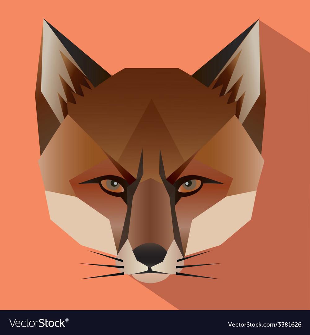 Fox face icon vector | Price: 1 Credit (USD $1)