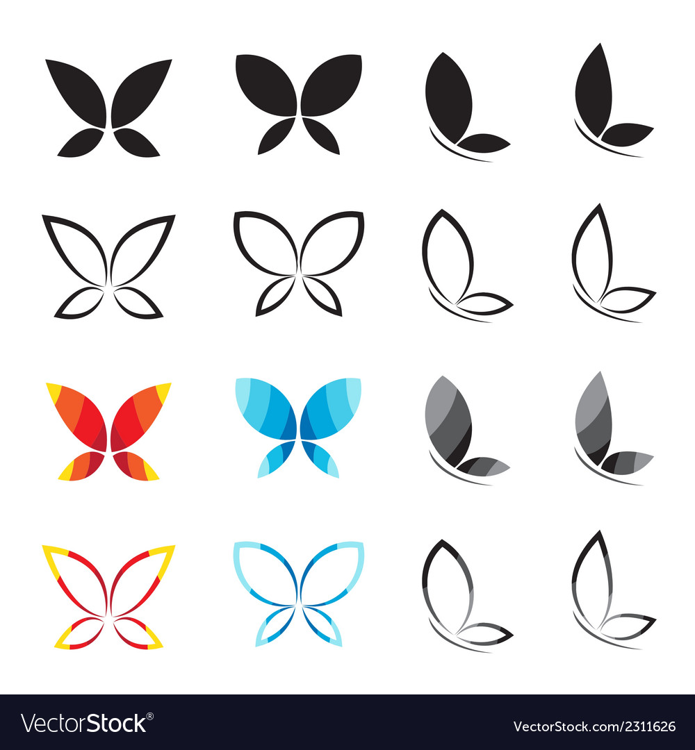 Group of butterfly vector | Price: 1 Credit (USD $1)