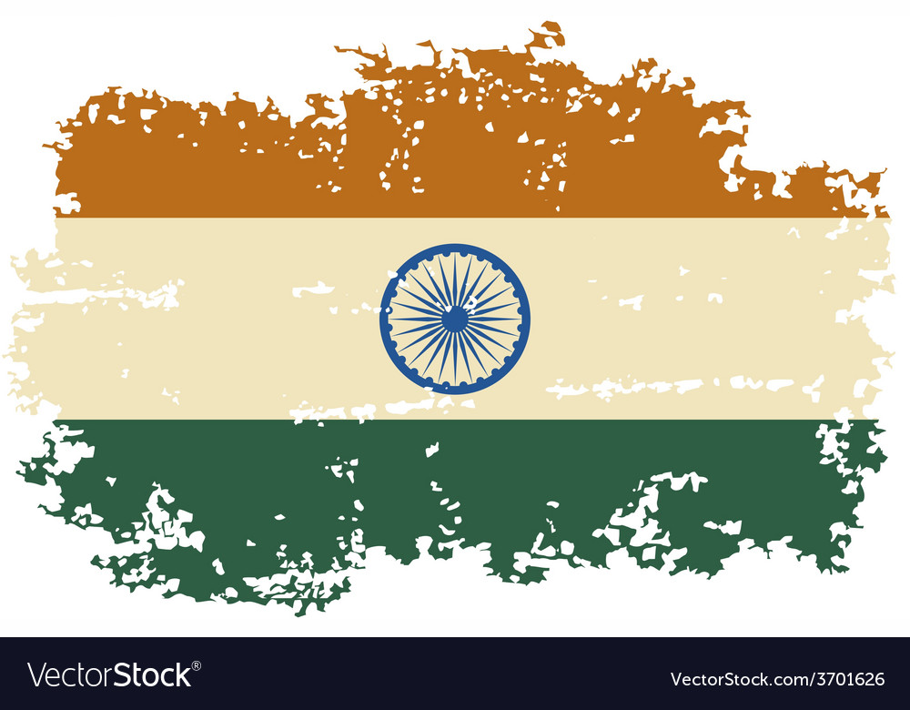 Indian grunge flag vector | Price: 1 Credit (USD $1)