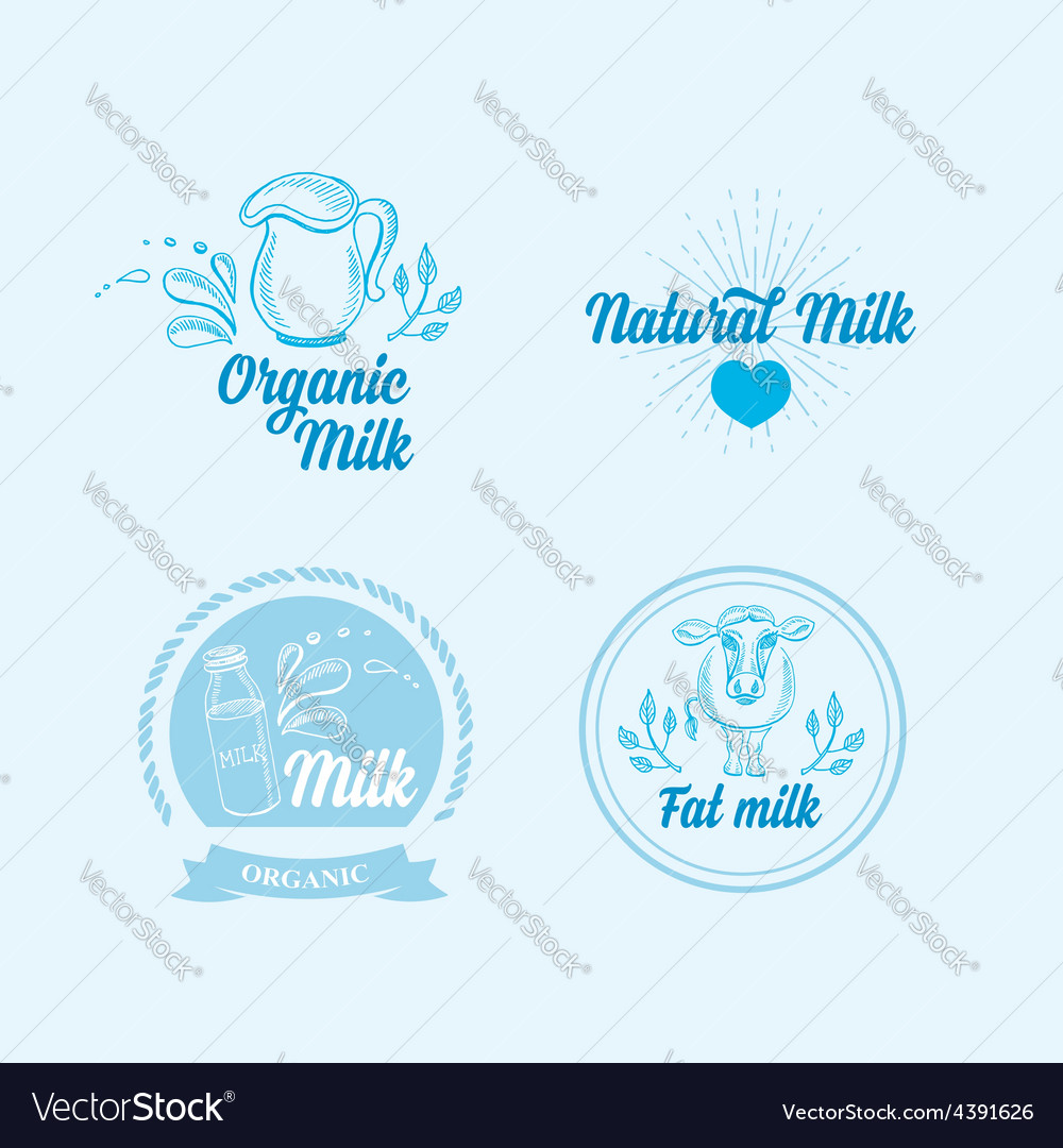 Natural milk with splashes icons design healthy vector   Price: 1 Credit (USD $1)
