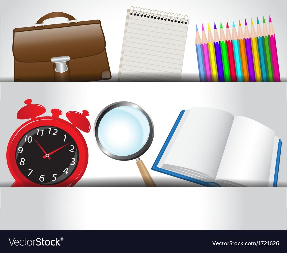 School accessories vector | Price: 1 Credit (USD $1)