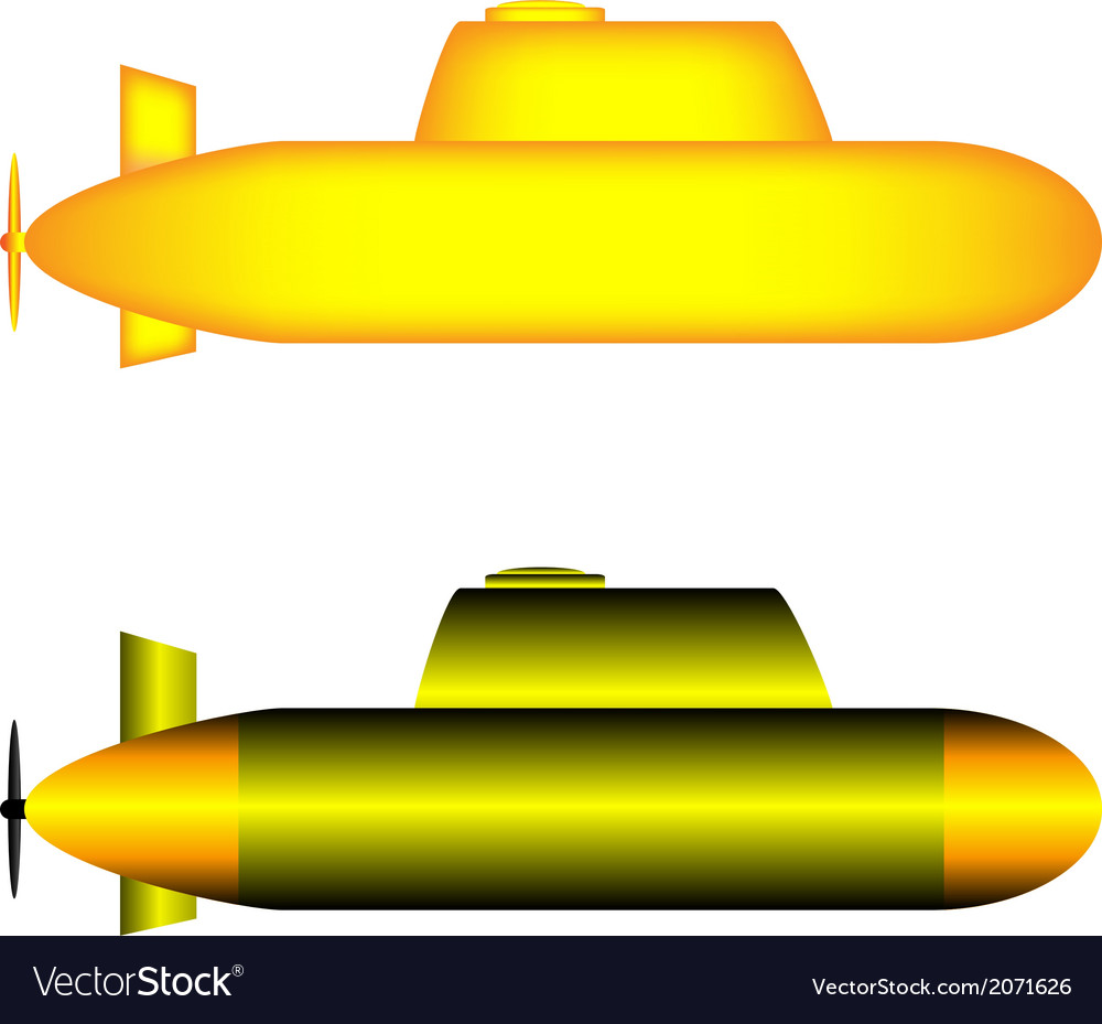 Submarines vector | Price: 1 Credit (USD $1)