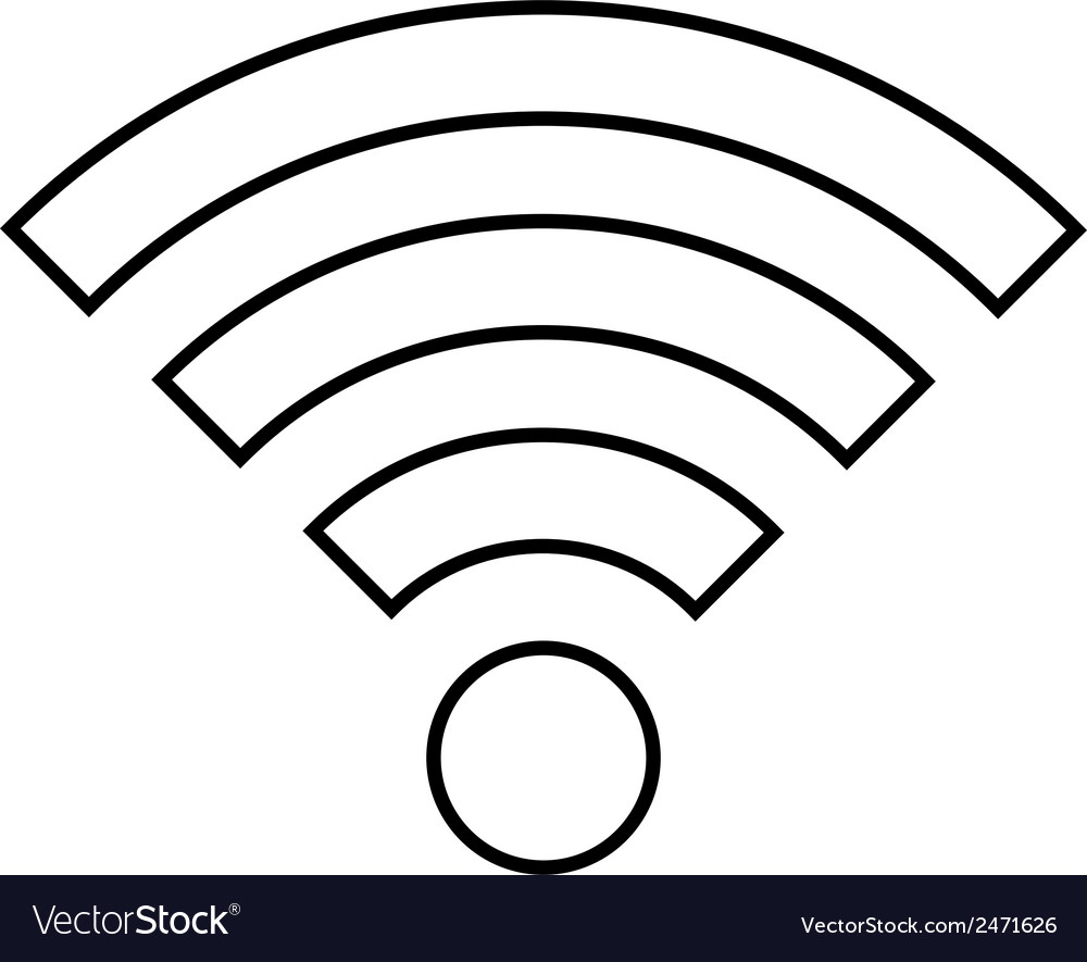 Wi fi icon vector | Price: 1 Credit (USD $1)
