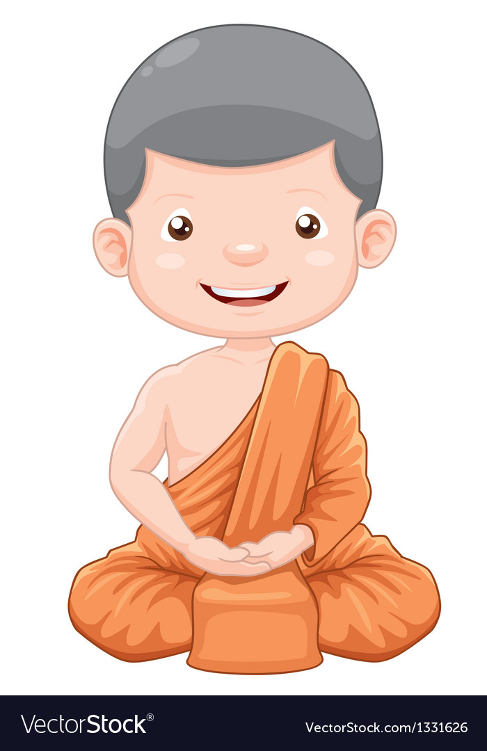 Young monk vector | Price: 3 Credit (USD $3)