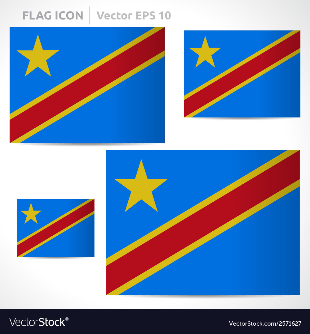 Democratic republic of the congo flag template vector | Price: 1 Credit (USD $1)