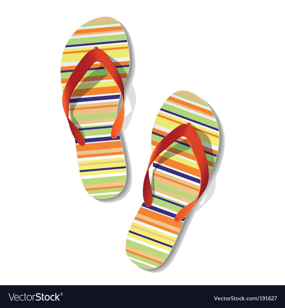 Flip flops vector | Price: 3 Credit (USD $3)