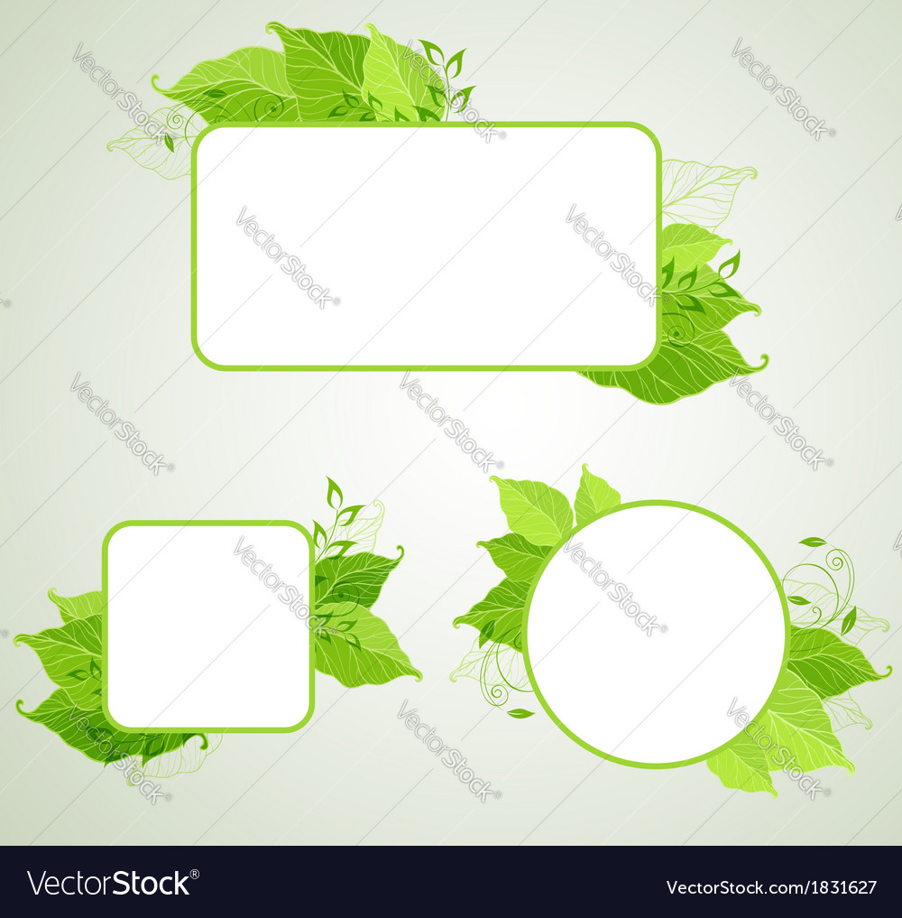 Green ecology banners vector | Price: 1 Credit (USD $1)