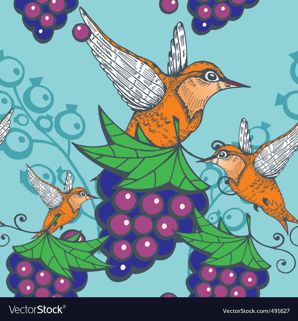 Humming bird pattern vector | Price: 1 Credit (USD $1)
