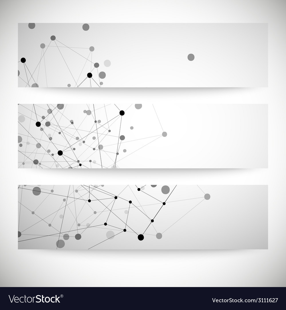 Set of gray backgrounds for communication molecule vector | Price: 1 Credit (USD $1)