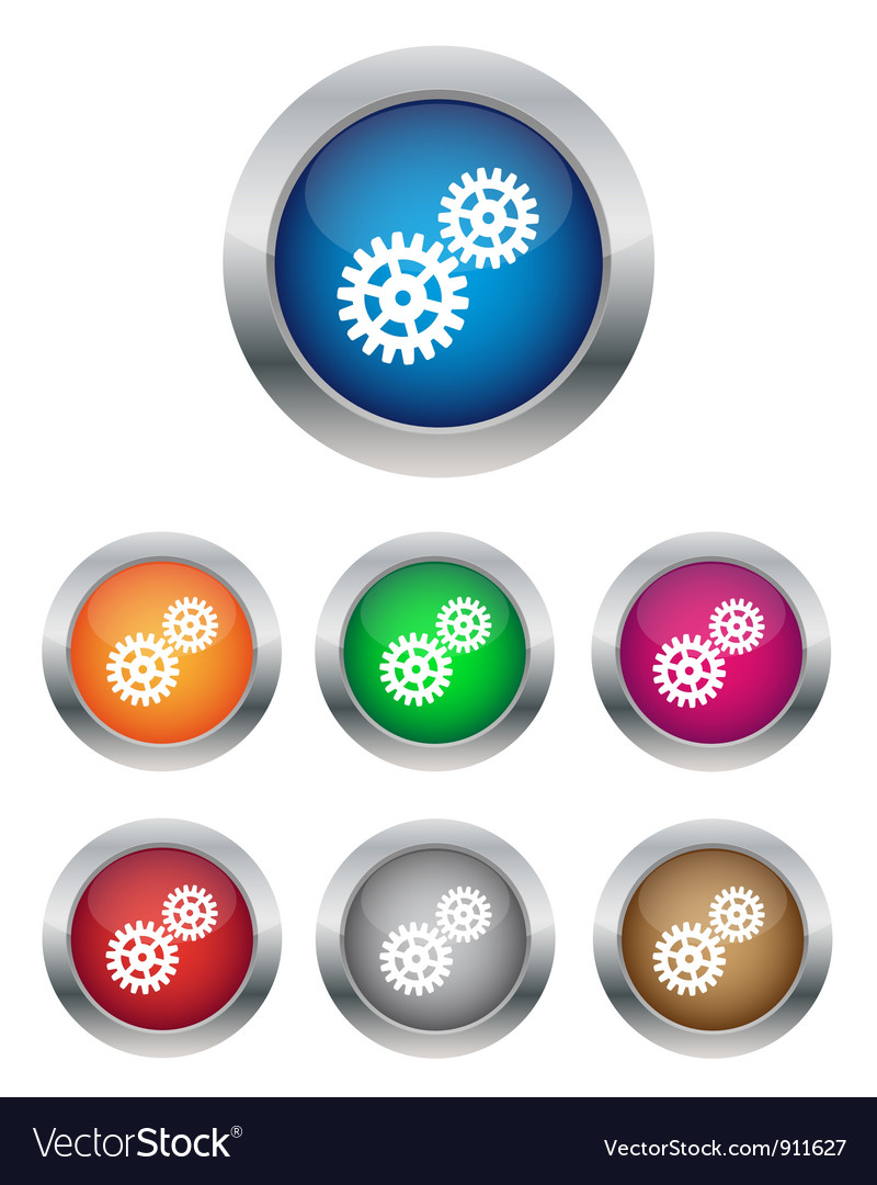 Settings buttons vector | Price: 1 Credit (USD $1)