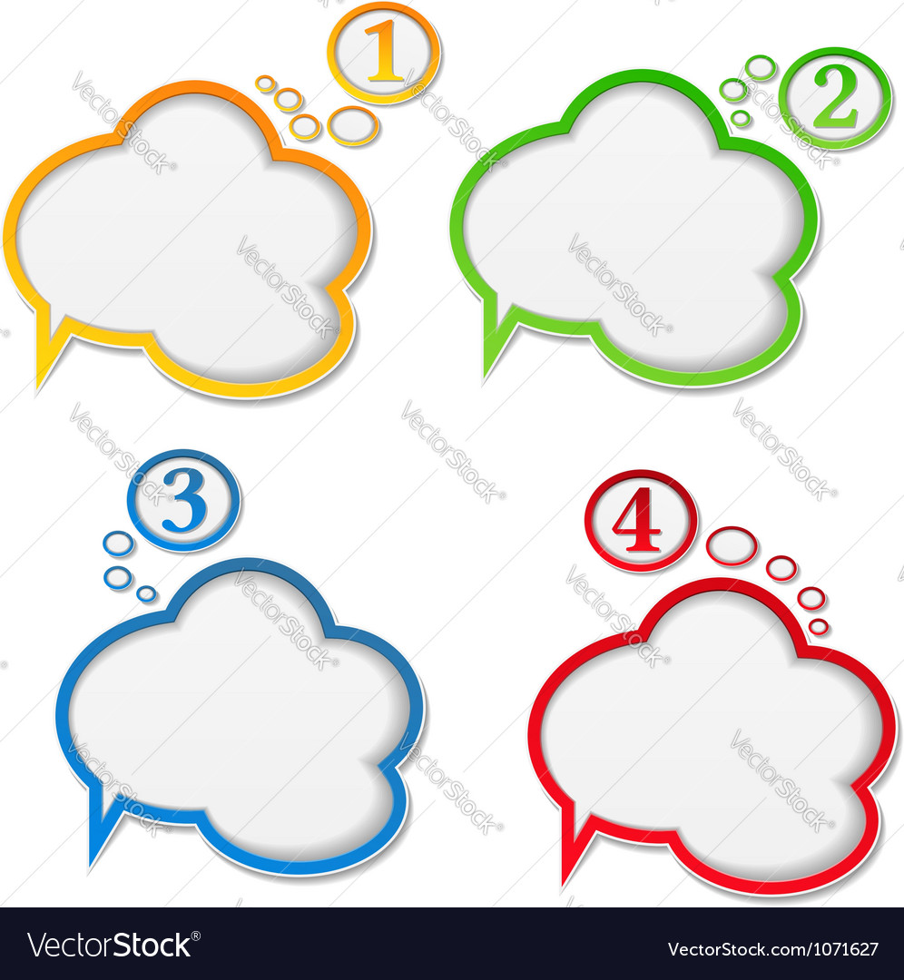 Speech bubbles with numbers vector | Price: 1 Credit (USD $1)