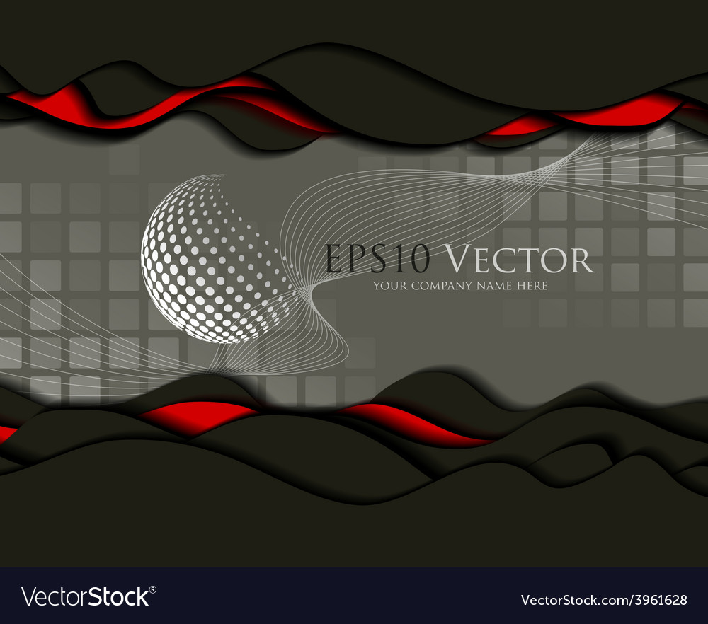 Abstract business design and cutout elements vector | Price: 1 Credit (USD $1)
