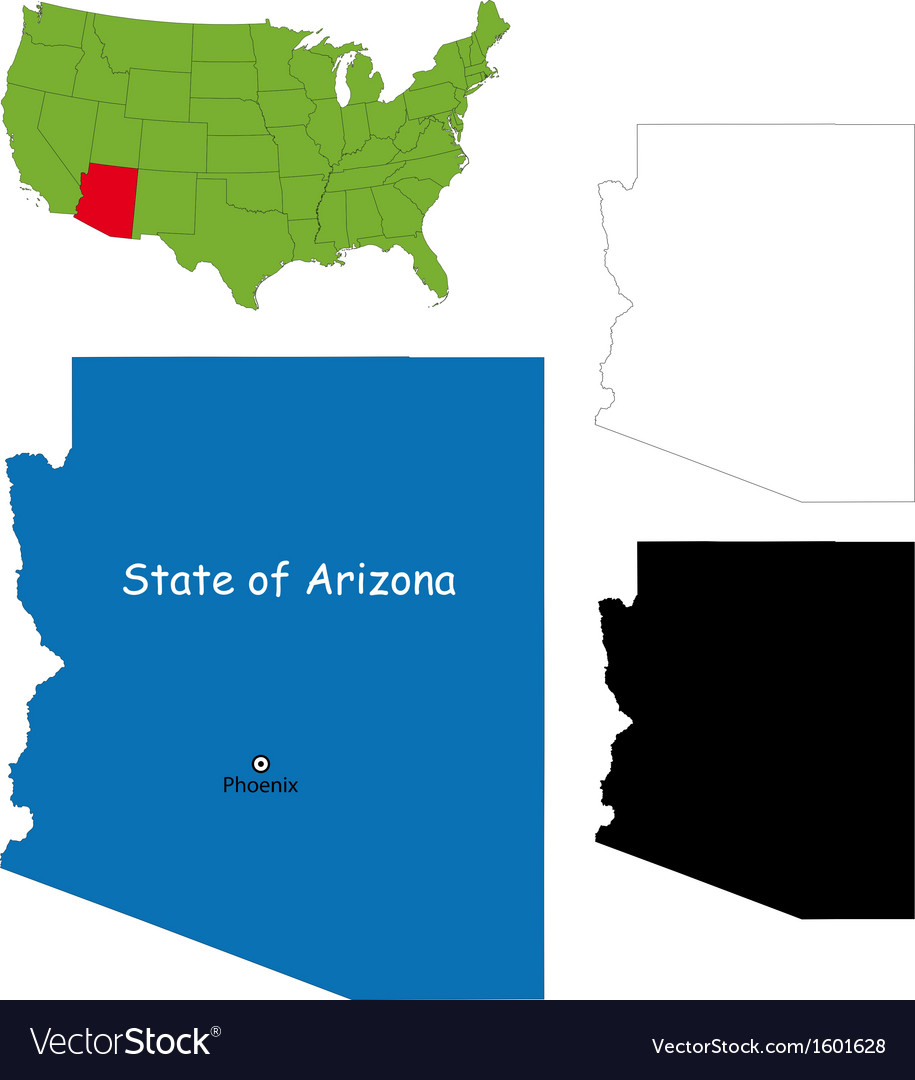 Arizona map vector | Price: 1 Credit (USD $1)